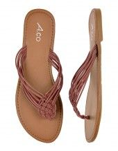 Braided brown leather sandals