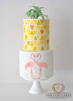 Flamingo Springs - Cake by Van Goh Cakes
