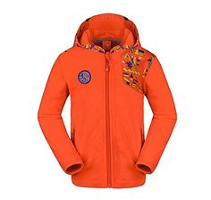 CAMEL Boys  Girls Warm Windproof Fleece Jacket Color Orange Size 150 >>> To view further for this item, visit the image link.