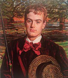 "William Holman Hunt, ""Portrait of Cyril Benoni Holman Hunt"", oil on canvas, 1880."