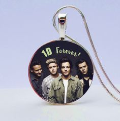 "One Direction ""1 D Forever"" Necklace - Are you a Directioner?! Know someone who is?! Give her this amazing One Direction necklace and she'll be so thrilled you got her such a personalized gift."
