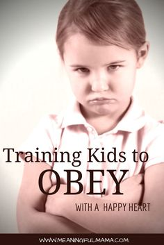 """Training Kids to Obey with the """"Yes, Mommy"""" Game - Meaningful Mama - Parenting Tips"""