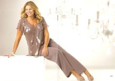 Pant Suit 01 | Isabella Fashions | Mother of the bride dresses, plus sizes, and evening wear
