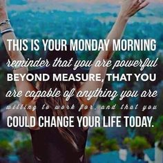 GOOOOOD MORNING!!!!  Time to slay the week! I've got big dreams and big goals!  Changing my life one day at a time and helping others along the way  #slay #bossbabe #dreamBIG #itsmonday #newweek #adventures #bossbabe #changinglives #team #icanhelpyou #youcandoit #financialfreedom #FriendshipFUNFreedom #liveyourdream #livelaughlove #possibilities #goals #motivation #mondaymotivation #hustle #workfromyourphone #workfromhome #mommylife #moms #dads #morefamilytime #succeed