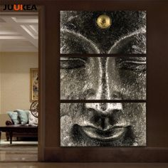 Cheap art pictures, Buy Quality picture for living room directly from China wall art picture Suppliers: Buddha Painting 3 Panel Classic Hot Sale Canvas Art Print Painting Poster Modern Wall Art Picture For Living Room, Home Decor Budha Painting, Bali Painting, Buddha Canvas, Buddha Wall Art, Living Room Pictures, Wall Art Pictures, Painting Walls Tips, Statues, Cheap Paintings