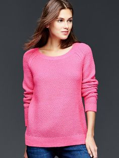 Textural pullover sweater