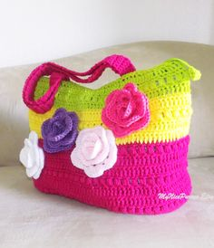 Beautiful crochet summer shoulder bag crochet by MyNicePurses, $65.00