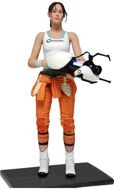 """Toys: NECA's 7"""" Chell figure will likely suit Portal and Portal 2 fans quite nicely once it arrives in stores this February. [Super Punch]    Read More: http://www.comicsalliance.com/2012/11/28/link-ink-dragon-ball-z-flip-book-baby-hashtag-conan-the-walking-dead/#ixzz2DZPWojxC"""