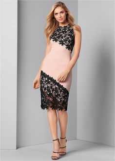 Front View Lace Detail Dress Unique Dresses, Cute Dresses, Dresses For Work, Party Dresses, Sexy Outfits, Dress Outfits, Formal Dress Shops, Formal Dresses, Latest Fashion For Women