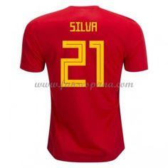 4457f2ab349df Camisetas De Futbol Selección España Copa Mundial 2018 Silva 21 Primera  Equipación