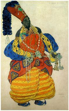 Leon Bakst Illustration, pinned by Modeconnect.com