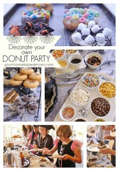 DECORATE YOUR OWN DONUT PARTY   The perfect activity for your upcoming Halloween Party. The kids love it!  http://www.yourhomebasedmom.com/decorate-donut-halloween-party/