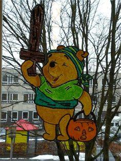 Raamschildering Winnie the pooh