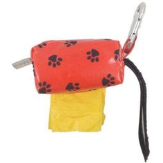 Designer Duffle, Orange Paw, Yellow/Ocean, 1 Roll