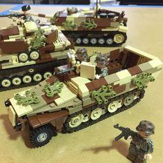 SdKfz 251 ausf D in late war camouflage #Lego #brickarms #brickmania by brickmaniatoys