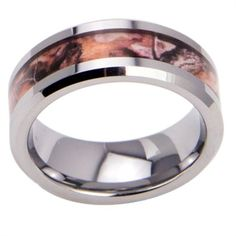 Real Tree Camo Tungsten Ring.