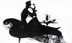 1927 - Lady In Lace On Phone Silhouette | Flickr - Photo Sharing!