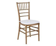 Cadeira Tiffany - Dourada e Branca
