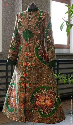 Пальто - пальто,Павлопосадский платок,павловопосадский платок,Павлово-посадский платок