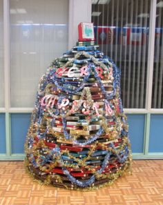 Christmas tree made of books-perfect for your library