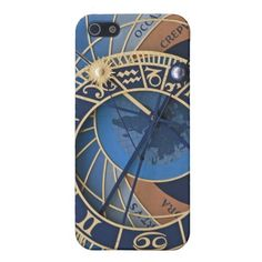 Steampunk in Blue Astronomical Clock Cover For iPhone 5
