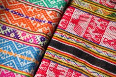 We just received some new textiles from Peru. The fabrics are made in the Sacred Valley near Cusco, the geometric figures and bright colors aretypicalfrom of the area. The technique they use is called 'telar de cintura' orbackstrap weavingin english, each piece can take up to a month to make!