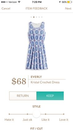 Another in of my favorite dresses! Cool crochet too! Kept