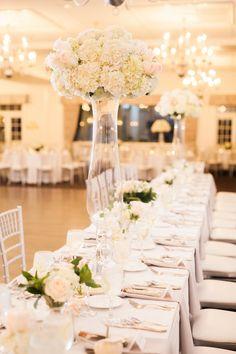 Elegant Country Club Massachusetts Wedding from  Sarah Jayne Photography - wedding centerpiece idea