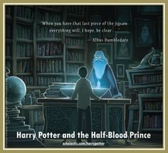 Harry Potter and the Half-Blood Prince back cover: Harry at the Pensive