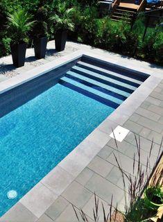 42 Ideas For Modern Landscape Design Pool Patio Backyard Pool Landscaping, Backyard Pool Designs, Small Backyard Pools, Swimming Pools Backyard, Swimming Pool Designs, Modern Landscaping, Small Pools, Outdoor Pool, Kleiner Pool Design