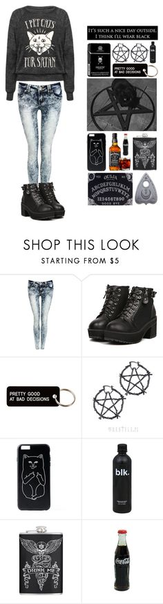 """""""cats of hell"""" by loserthatlikesbands ❤ liked on Polyvore featuring Pilot and Various Projects"""