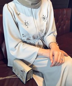 Many more like this can be found at the website! Give it a look for what we pick best for each category! Modern Hijab Fashion, Islamic Fashion, Abaya Fashion, Muslim Fashion, Fashion Wear, Modest Fashion, Fashion Outfits, Hijab Dress, Hijab Outfit