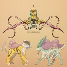pokemon weapons - Raikou and Suicune