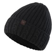 daf7e51fc1b Men s Winter Hat Warm Knitted Hat Cuff Beanie Watch Cap With Lining - Black  - CU186GXN7GX