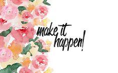 Make It Happen | January Desktop Wallpaper - Pink on the Cheek
