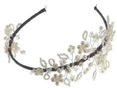 Hermione Harbutt Vintage Vine Headdress Pearl and Swarovski Crystal Vintage Wedding Side Tiara