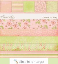 E-Paper Kit -  Another Tea Party 1 - FREE - click to enlarge