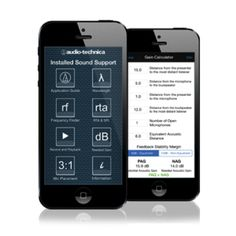 Audio-Technica offers FREE 'Installed Sound Support' app for iOS devices! The easy-to-use mobile app provides a number of essential tools for system integrators, sound contractors, FOH engineers, musicians and other audio professionals in the field. The Audio-Technica Installed Sound Support app is available for download at the Apple App Store.