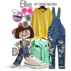 Ellie by leslieakay on Polyvore featuring Abercrombie & Fitch, Converse, Dasein, Alex and Ani, disney, disneybound and disneycharacter