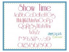 Show Time Embroidery Font