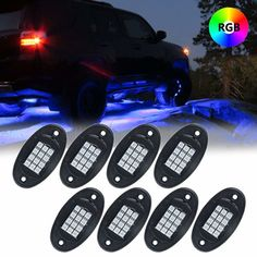 Find the best prices on RGB LED Rock Light Multicolor Neon LED Light Kit with Bluetooth Wireless Remote Control for Jeep Off Road Car Truck Underbody Vehicle Tail Glow Lamp and save money. Led Lights For Trucks, Jeep Lights, Lifted Chevy Trucks, Lifted Ford Trucks, Pickup Trucks, Toyota Trucks, Cool Trucks, Fire Trucks, Glow Lamp