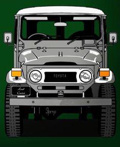 FJ 40 or BJ 40 Toyota Land Cruiser, Fj Cruiser, Toyota Fj40, Toyota Trucks, Station Wagon, Willis Truck, Vespa Bike, Honda 125, Dodge Vehicles