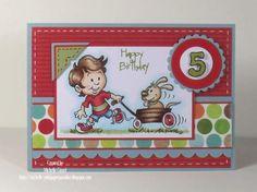 Cute birthday card for a little boy