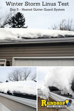 Heated Gutter Guards Snow And Ice Dams