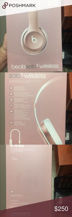 Beats Solo2 Special Edition Wireless Headphones new in original packaging #rosegold special edition wireless headphones; comes with cord, works with any bluetooth capable device, great for iphone 7 Beats Accessories