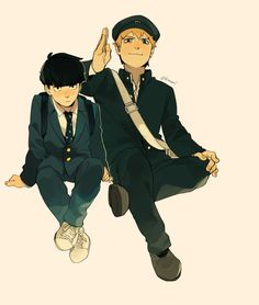 I found cute pic on Twitter and I couldn't stop thinking about Reigen and Mob /ᐠ。ꞈ。ᐟ\ ໒( ○ᴥ ○)ʋ