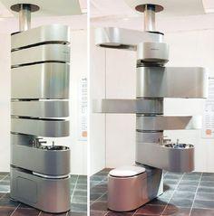 Vetebrae-praktische-Edelstahl-Toilette-futuristesches-Design