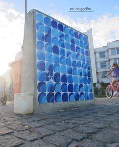 blue tiled pannel