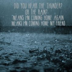 From Did You Hear the Rain? By George Ezra