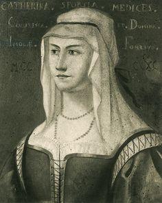 Portrait of Caterina Sforza Riario (Milan, 1463-Florence, 1509), Lady of Imola and Forli